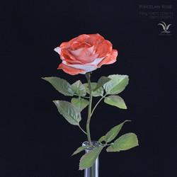 Porcelain two-color rose