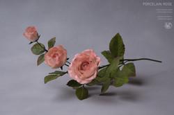 Ceramic porcelain rose