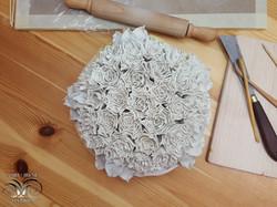 Ceramic wall flowers