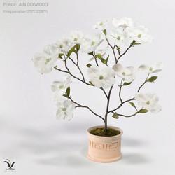 Ceramic dogwood, porcelain flowers