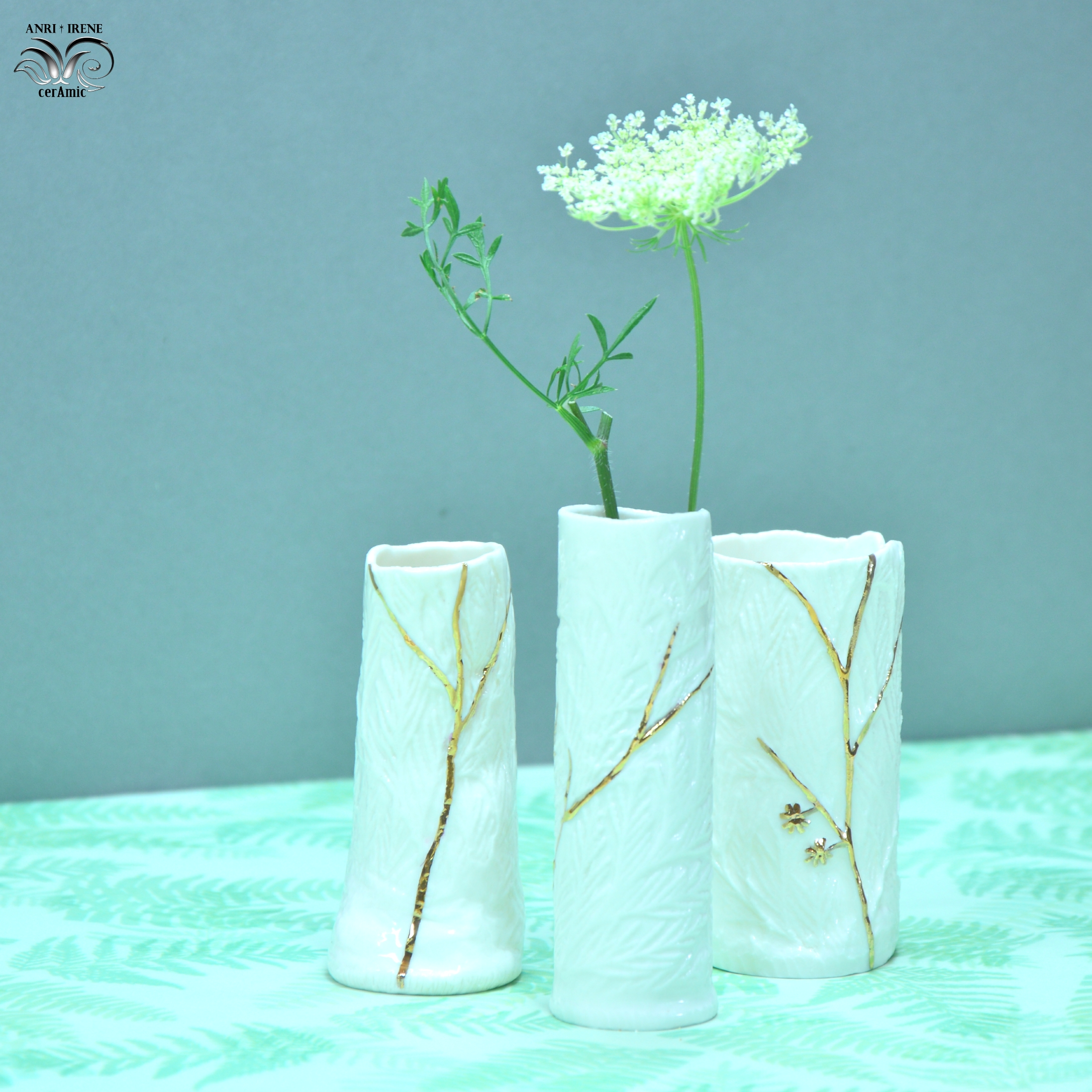 Ceramic flask vase