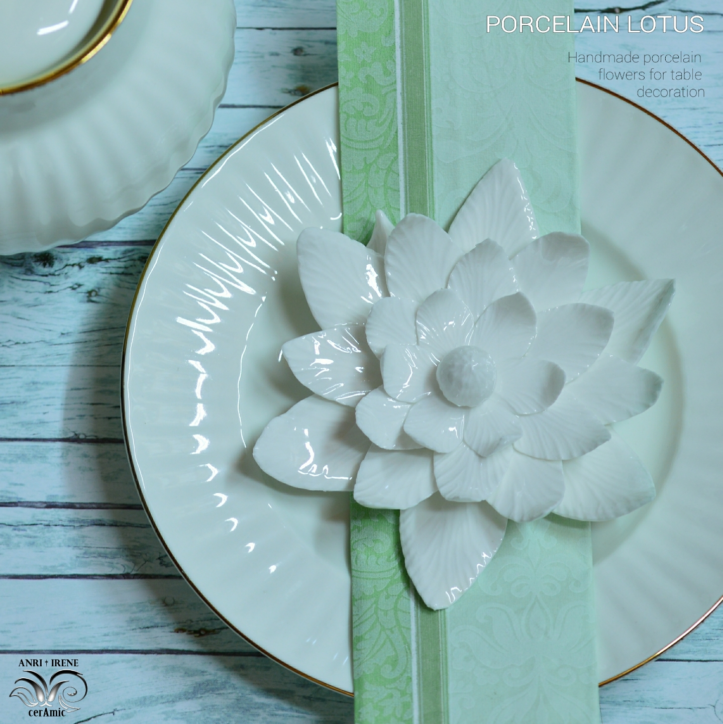 Porcelain white lotus