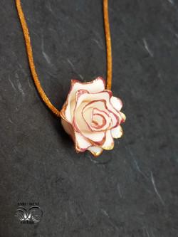 porcelain jewelry pendant flower