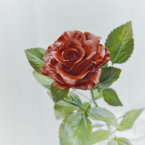 Ceramic red rose