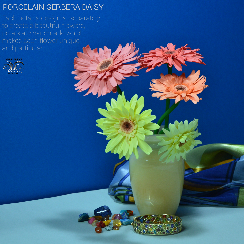 Porcelain gerbera flowers