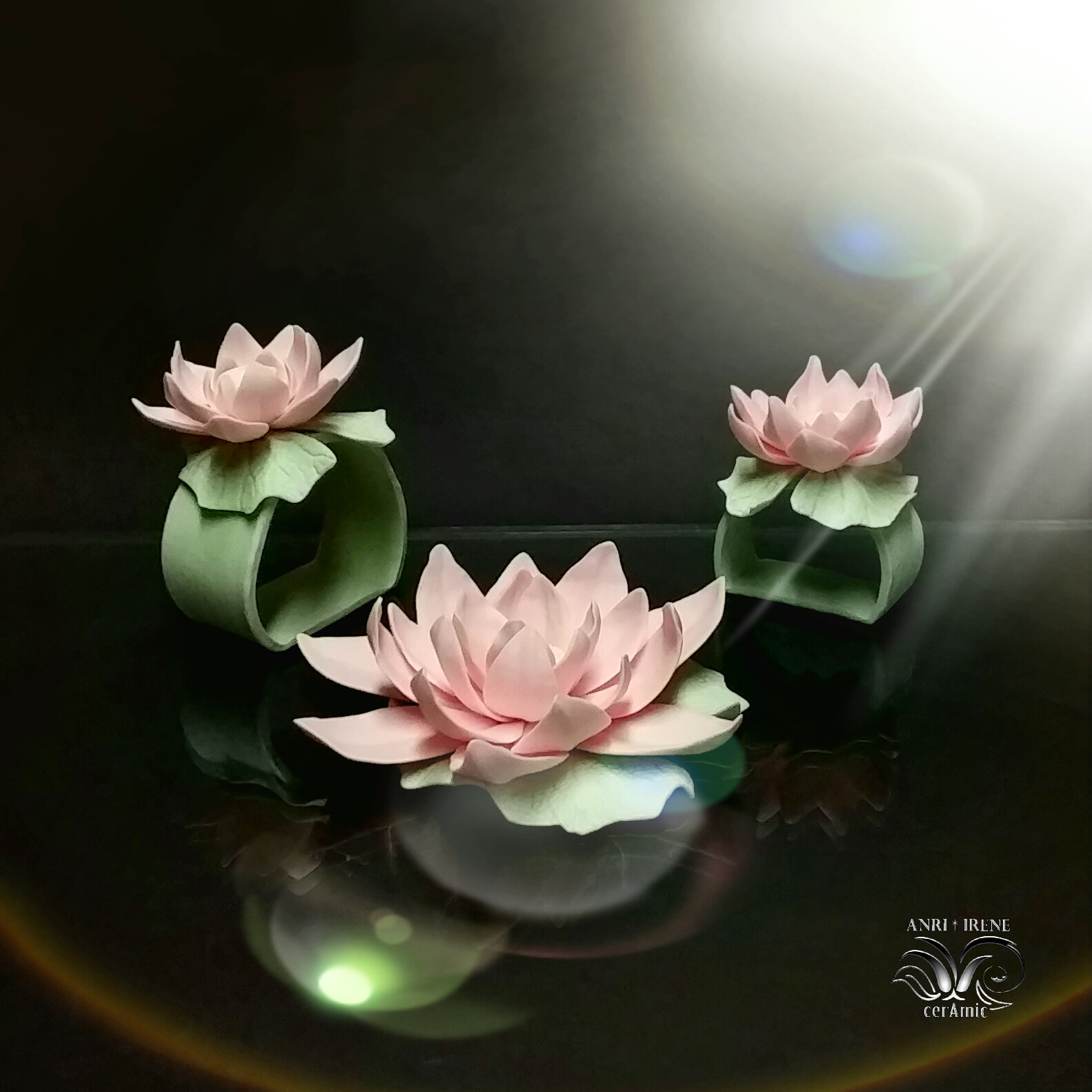 Porcelain lotus ceramic floral