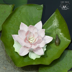 Porcelain pink lotus