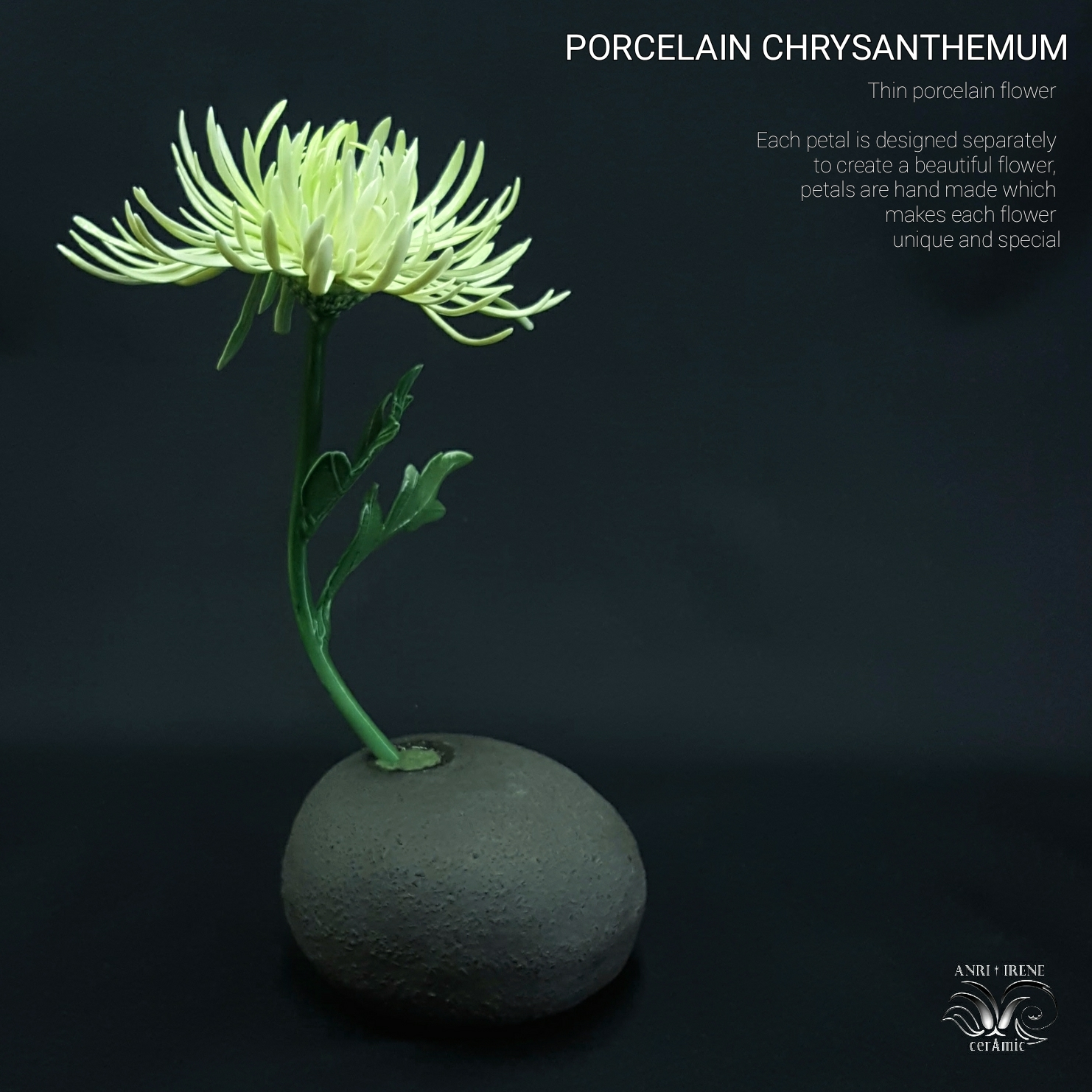 Porcelain ceramic chrysanthemum