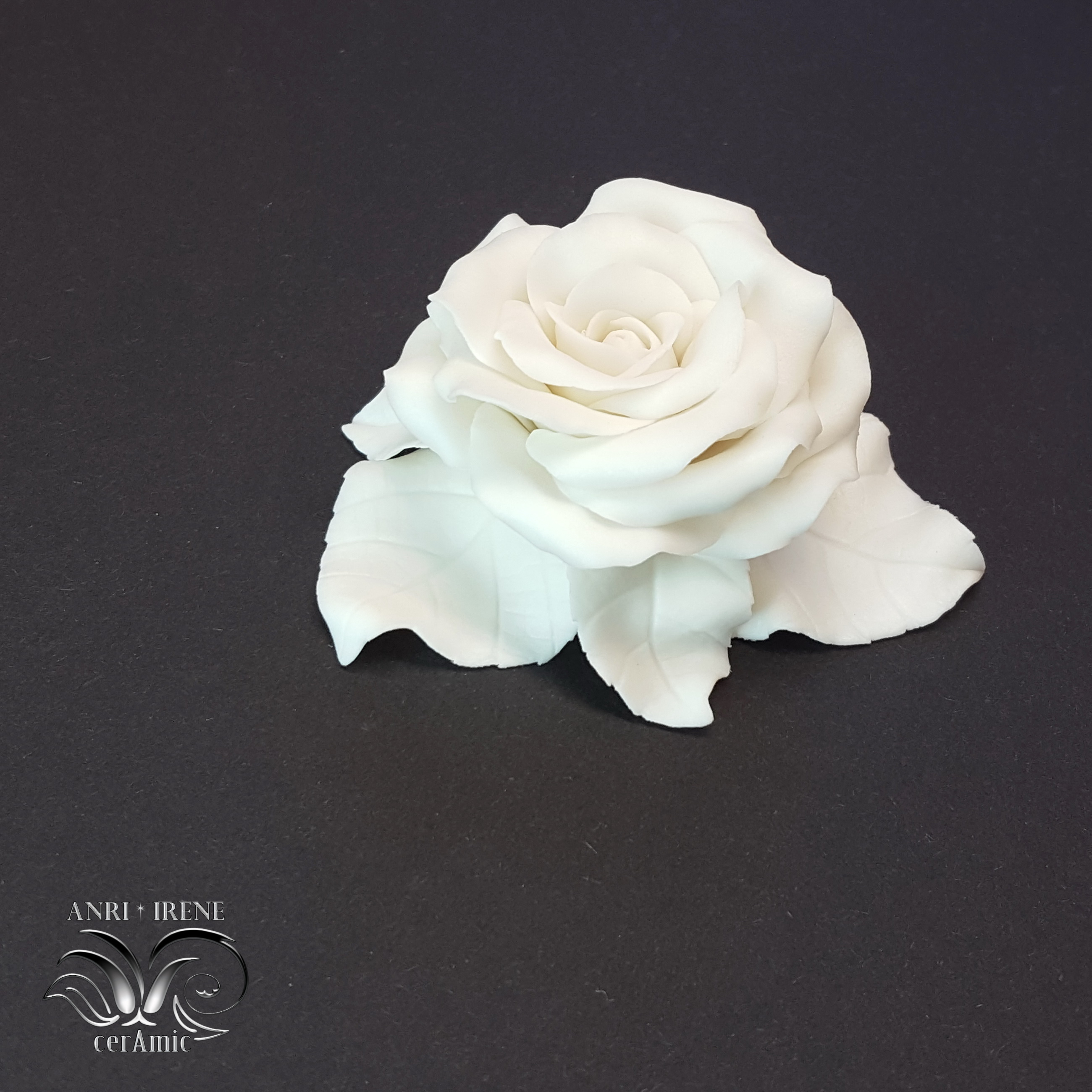White porcelain rose