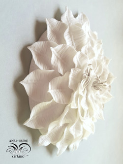 ceramic floral porcelain coral