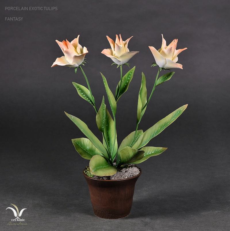 Porcelain exotic tulips
