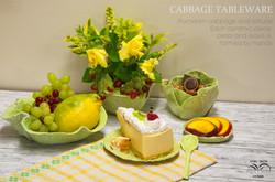 Cabbage tableware, lettuce tableware