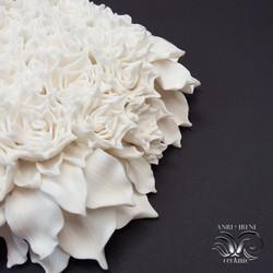 Porcelain wall flower