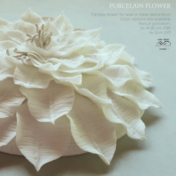 Ceramic wall flower decoration