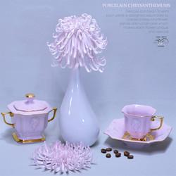 Ceramic chrysanthemums pink