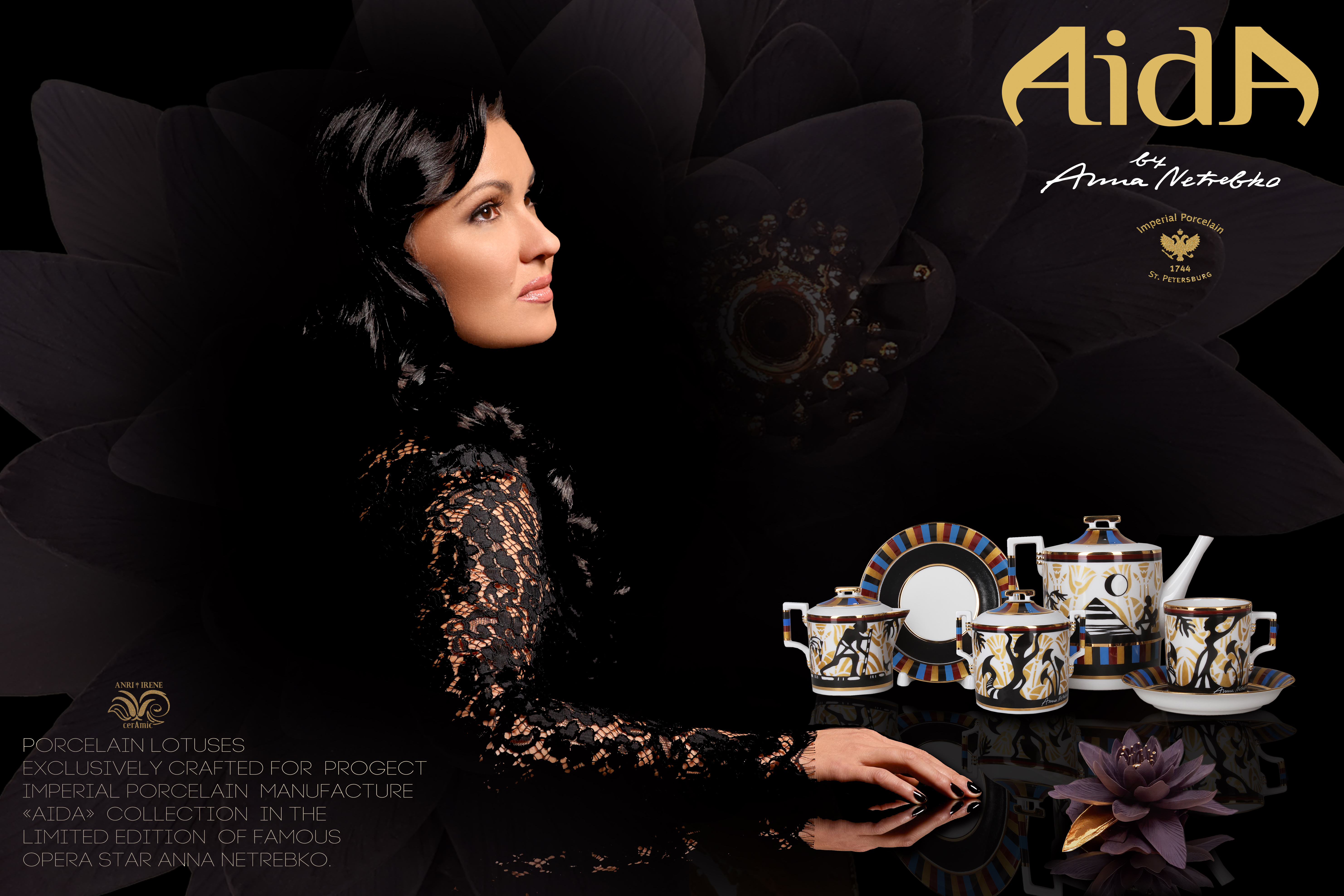 Anna Netrebko porcelain tea set