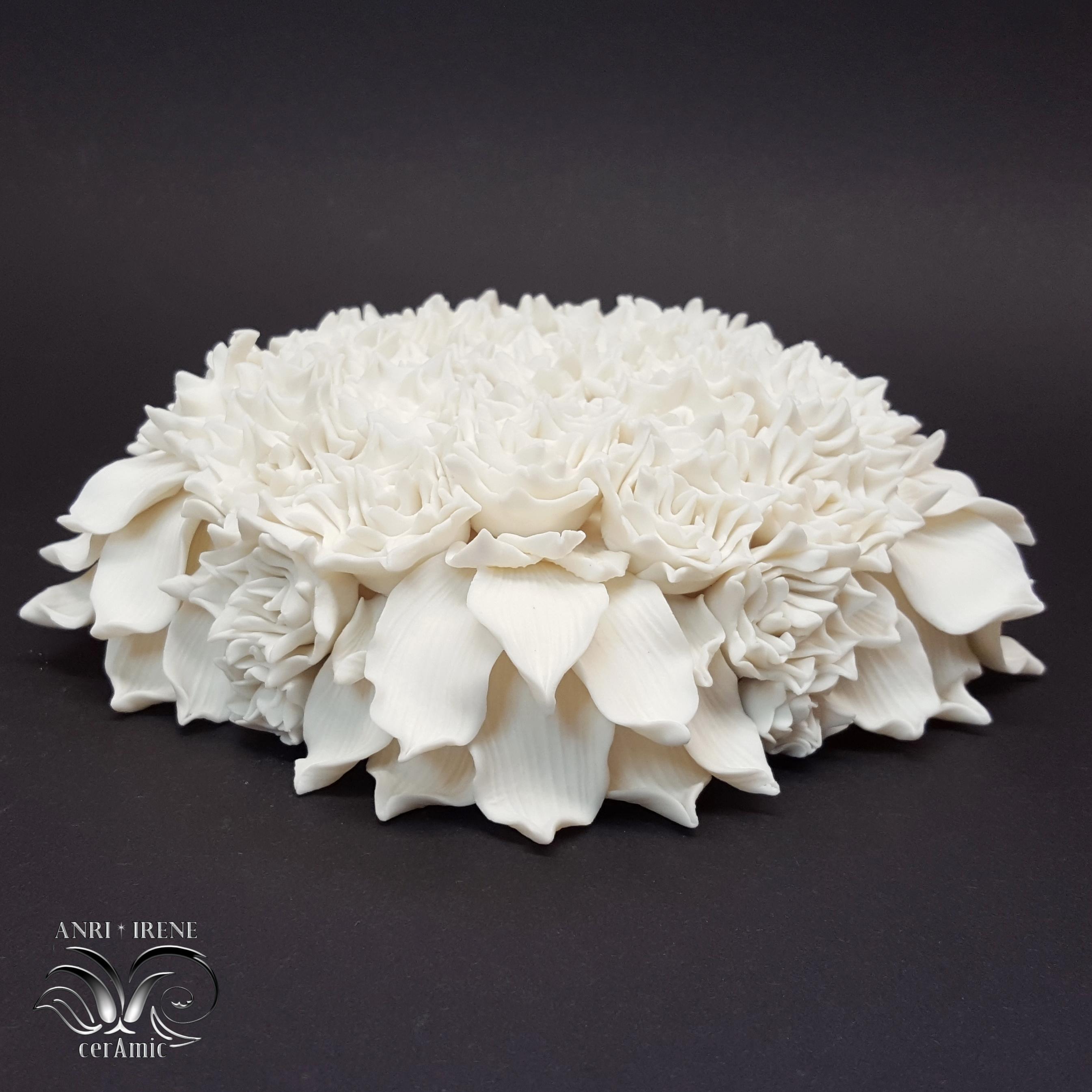fleurs en porcelaine