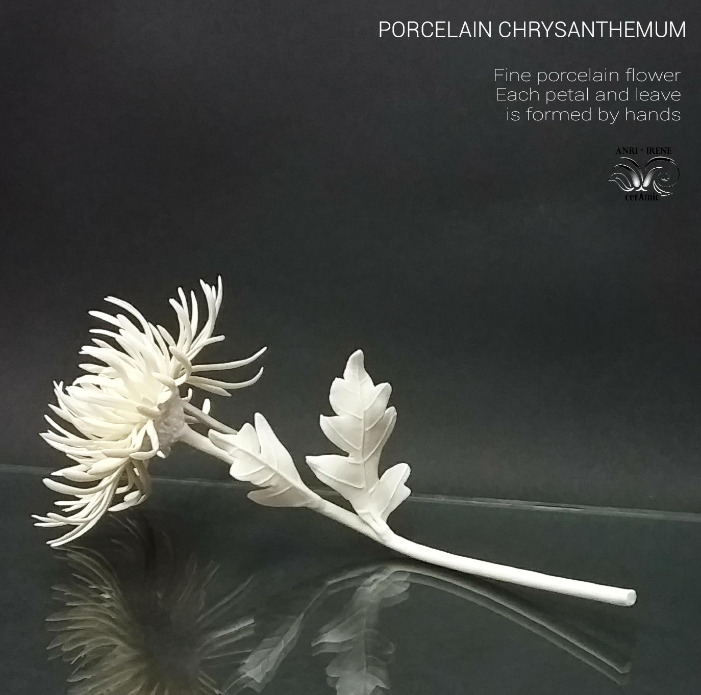 Porcelain colden daisy