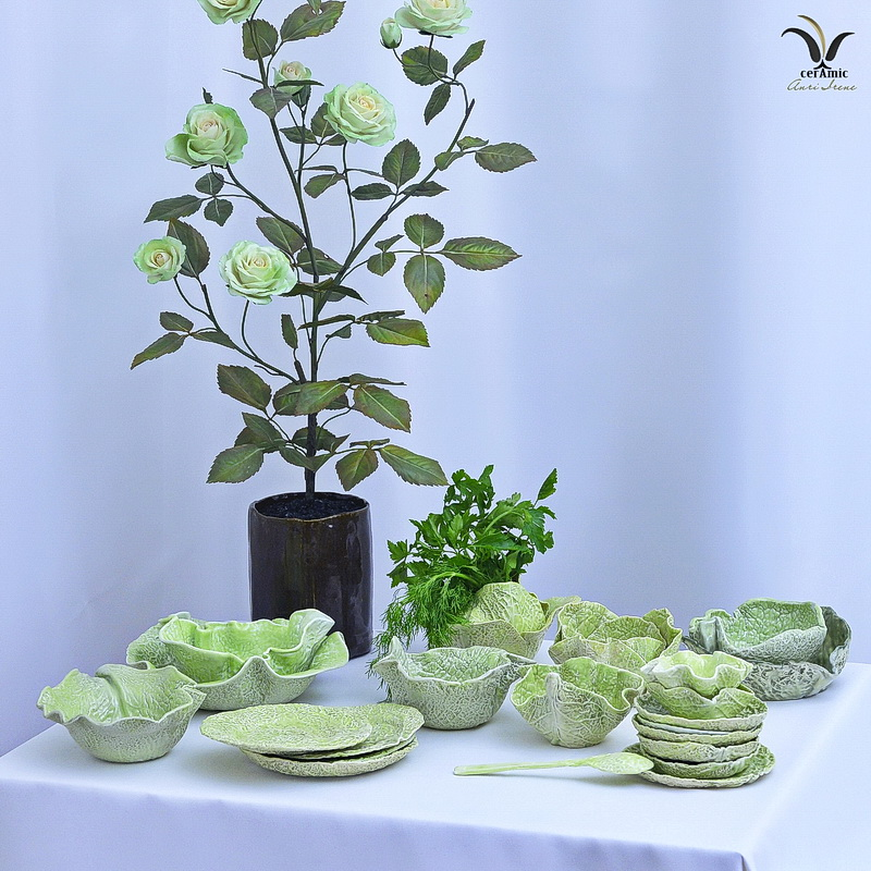 Ceramic cabbage tableware