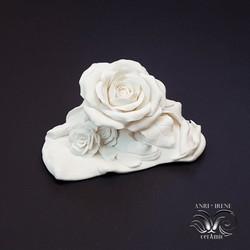 White porcelain rose