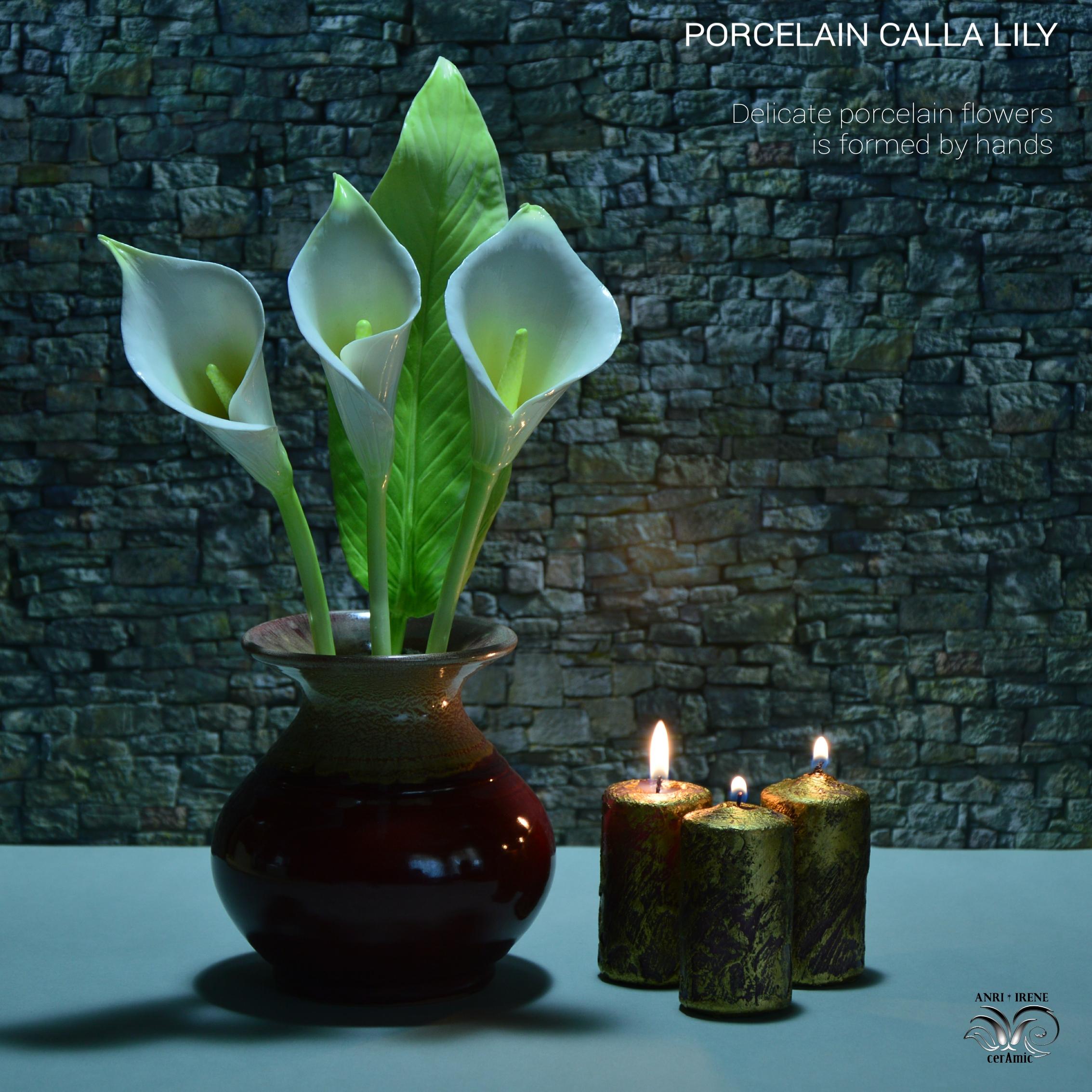 Ceramic calla lily