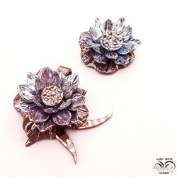 Porcelain floral jewelry