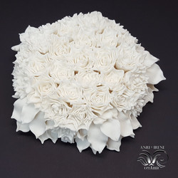 ceramic floral wall decor