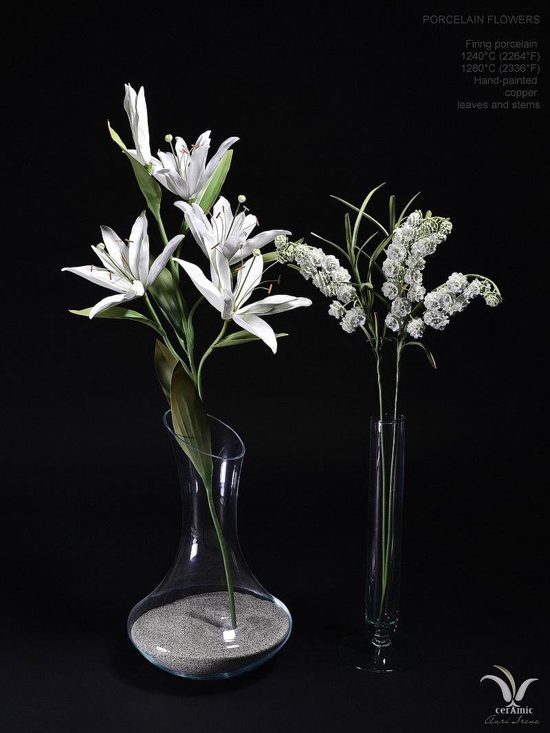Porcelain lilies