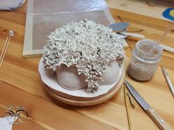 Porcelain wall flowers