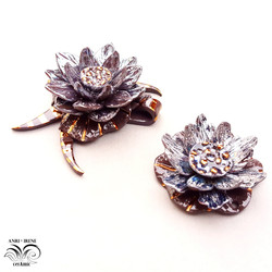 ceramic jewelry necklace lotus