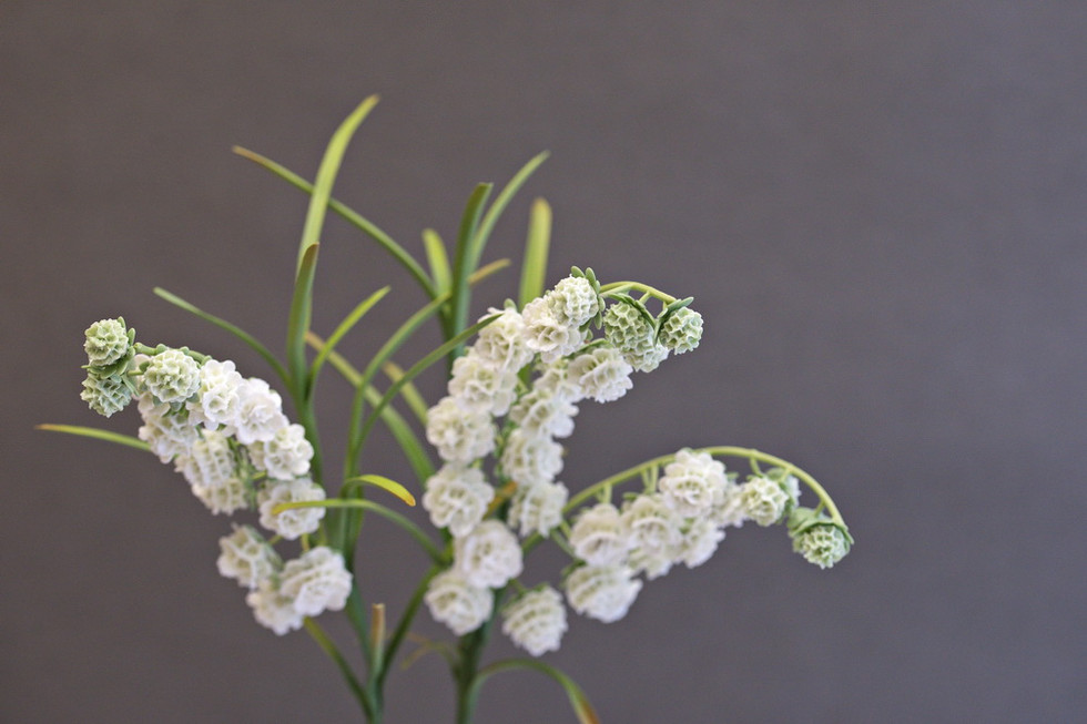 Ceramic lilies of the Valley Snowball