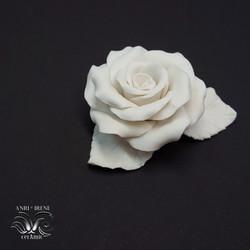White ceramic rose