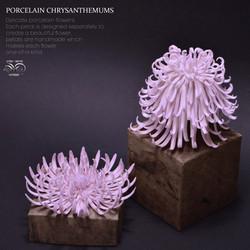 Ceramic chrysanthemums
