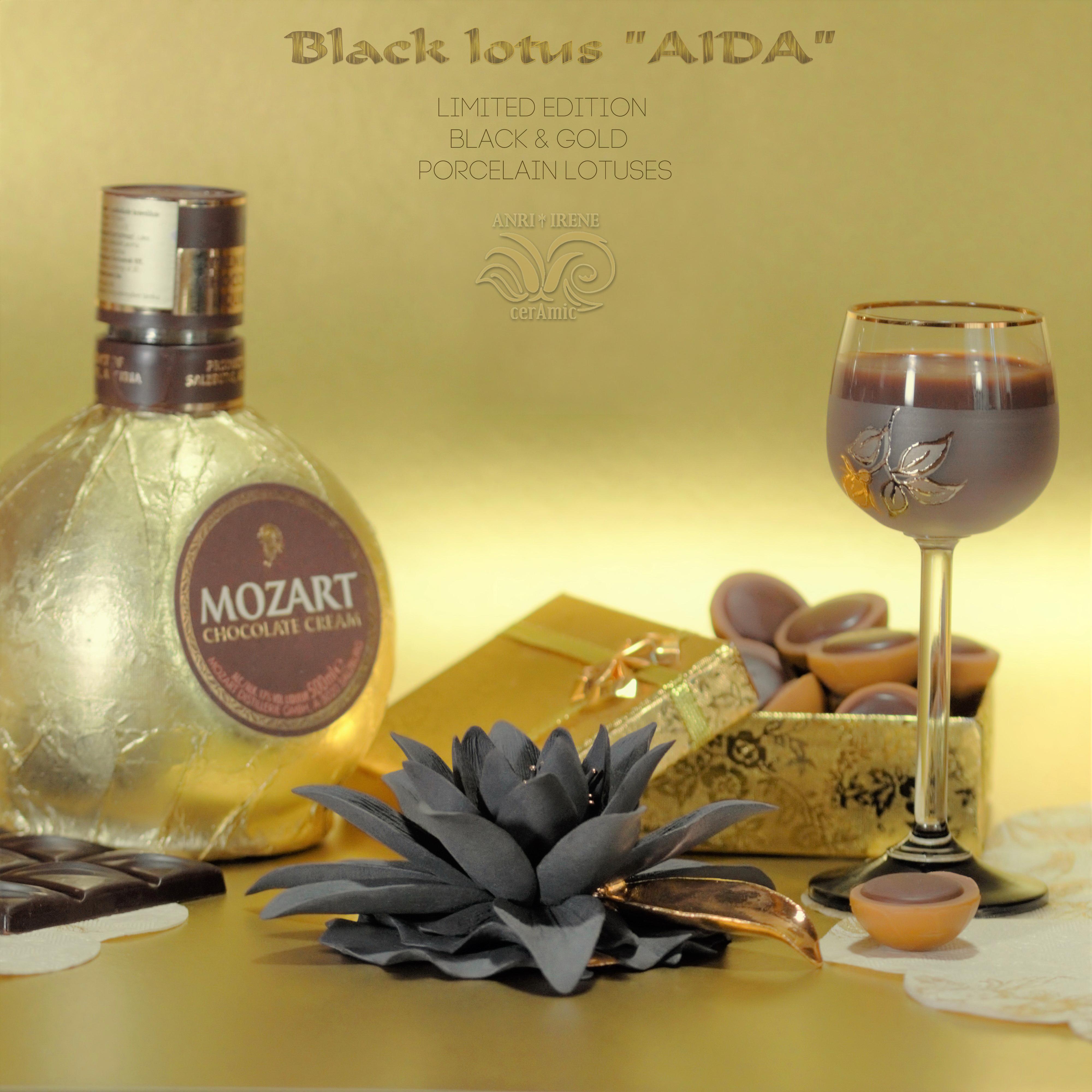 Porcelain black lotus
