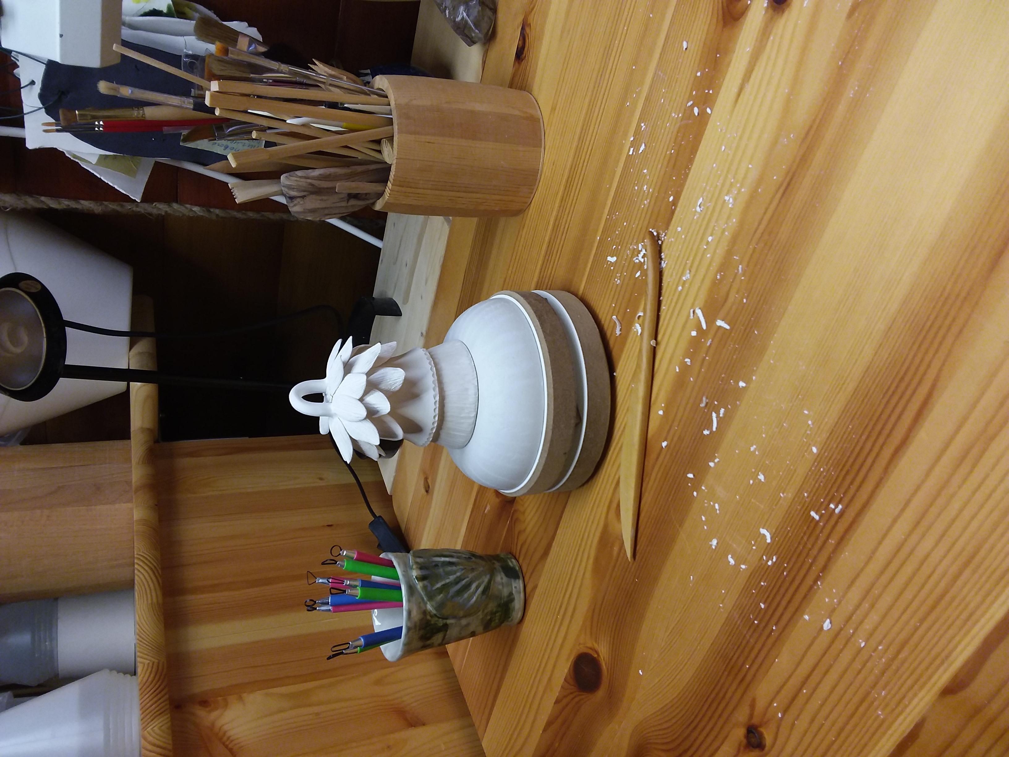 Ceramic bell Lotus