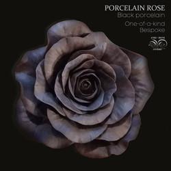 Porcelain black rose