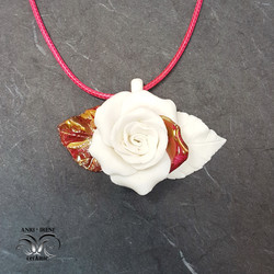 porcelain necklace jewelry rose