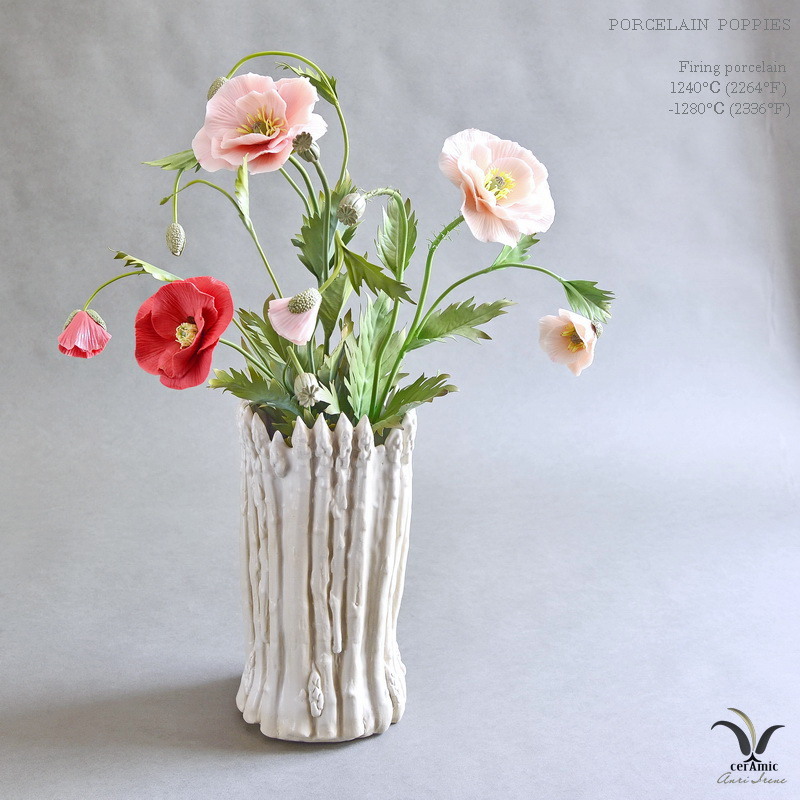 Porcelain poppies