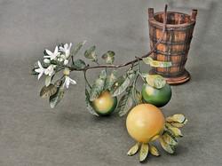 Porcelain grapefruit branch