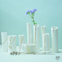 Porcelain vase flask