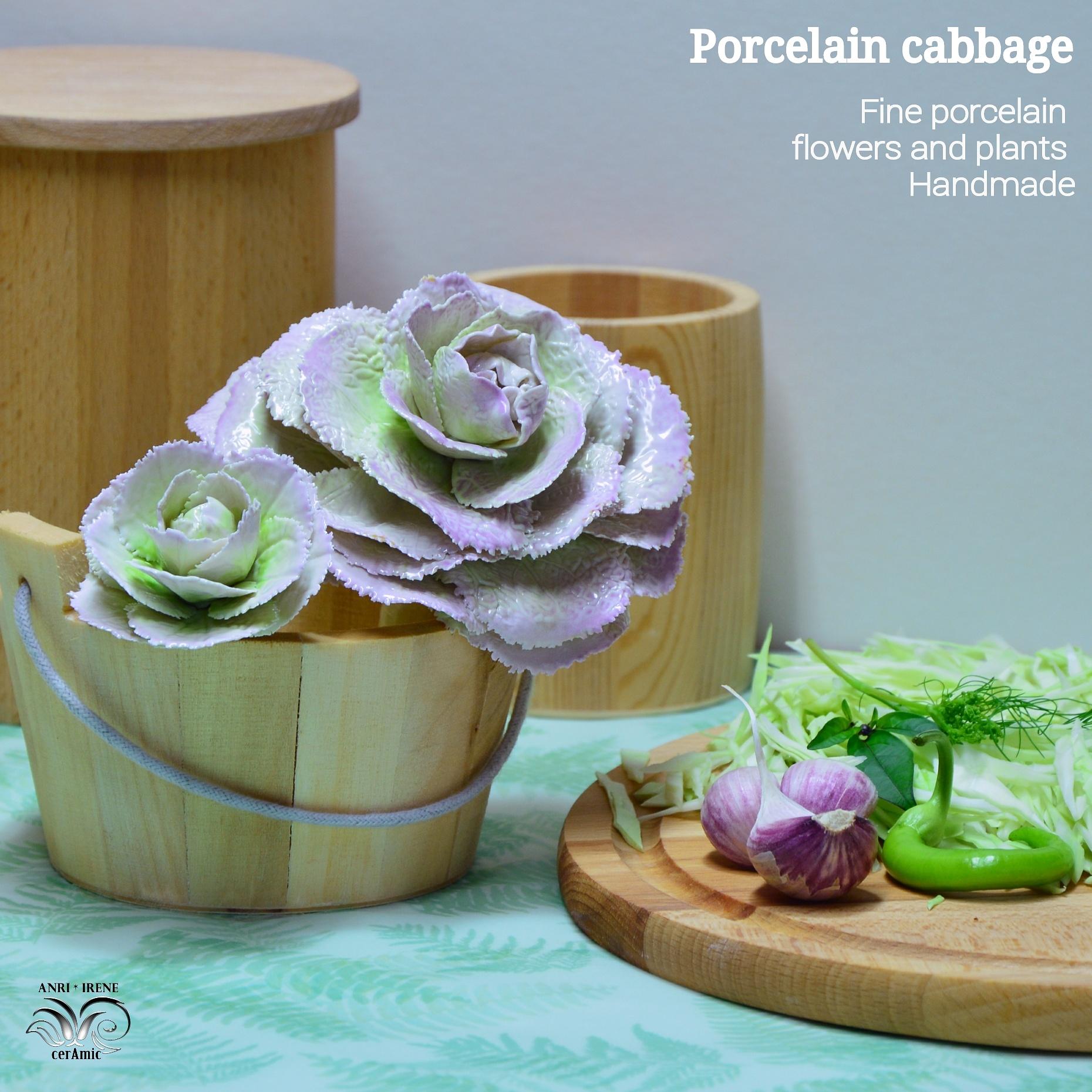 Porcelain decorative cabbage