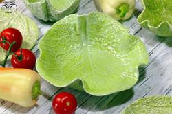 Lettuce tableware, cabbage tableware