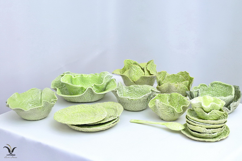 Porcelain cabbage tableware