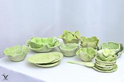 Porcelain cabbage tableware