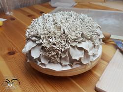 Ceramic wall piece