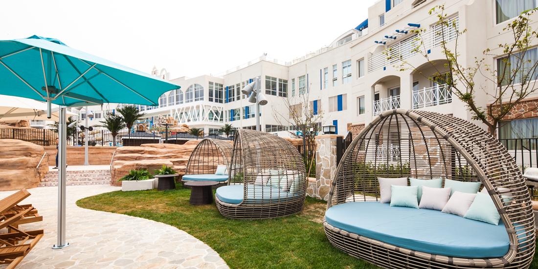 cabanas for rent at sol beach resort samcheok