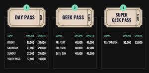 Seoul Comic Con Ticket Prices