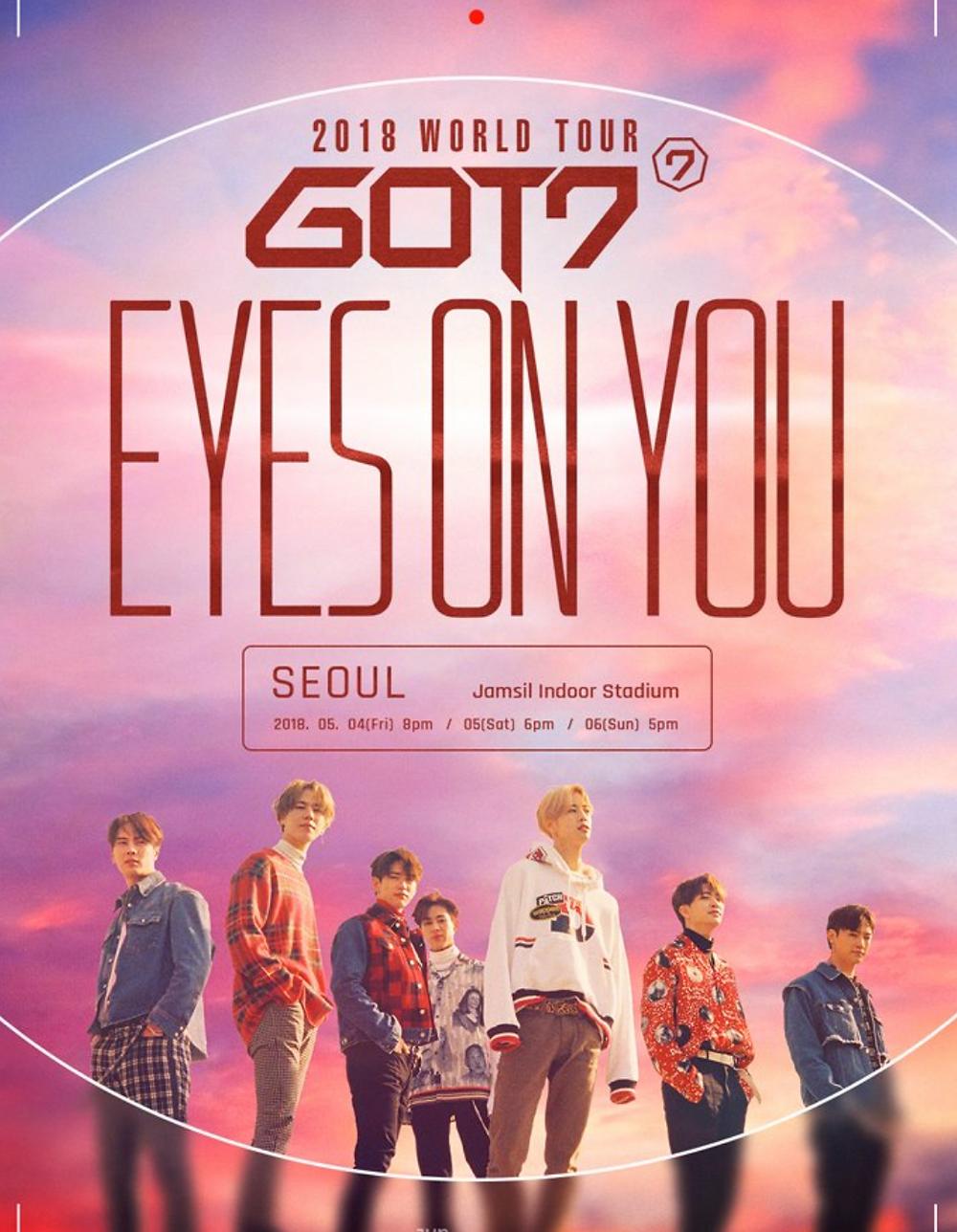 GOT7 Eyes on You World Tour 2018
