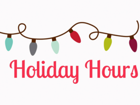 Wonderful Service Holiday Hours