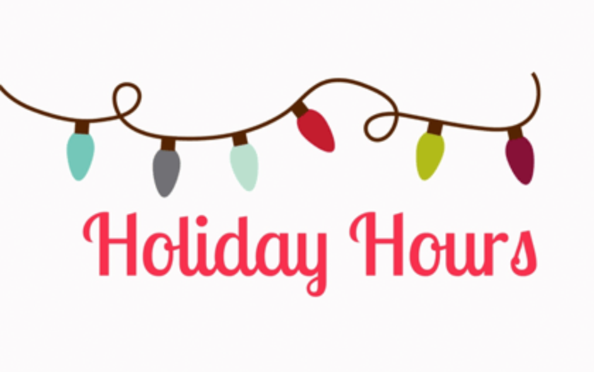 Holiday Hours and Christmas Lights